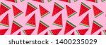 summer paper fruit  watermelon... | Shutterstock . vector #1400235029