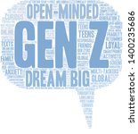 gen z word cloud on a white... | Shutterstock .eps vector #1400235686