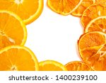 Dried And Fresh Oranges On...
