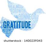 gratitude word cloud on a white ... | Shutterstock .eps vector #1400239343