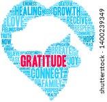 gratitude word cloud on a white ... | Shutterstock .eps vector #1400239349