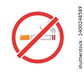no smoking vector icon. filled... | Shutterstock .eps vector #1400248589
