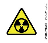 radiation vector icon. filled... | Shutterstock .eps vector #1400248613