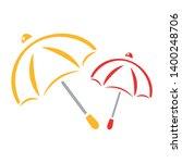 umbrella vector icon. filled...