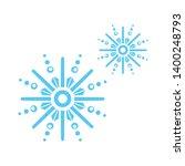 beautiful snowflake icon. glyph ... | Shutterstock .eps vector #1400248793