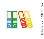 office folders vector icon.... | Shutterstock .eps vector #1400248796