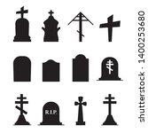 gravestones and tombstones... | Shutterstock .eps vector #1400253680