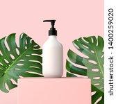blank white cosmetic bottle... | Shutterstock . vector #1400259020