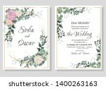 vector template for wedding... | Shutterstock .eps vector #1400263163