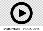play button. vector... | Shutterstock .eps vector #1400272046