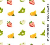 background pattern with citrus... | Shutterstock .eps vector #1400286356