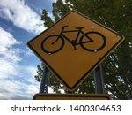 bike sign bicycle yellow...   Shutterstock . vector #1400304653