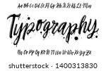 hand drawn graffiti font.... | Shutterstock .eps vector #1400313830