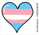 Cute Transgender Heart Cartoon...