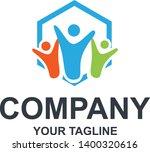 family logo design  fun logo ...   Shutterstock .eps vector #1400320616