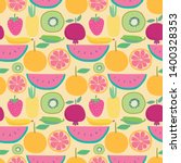 seamless pattern with fruit... | Shutterstock .eps vector #1400328353