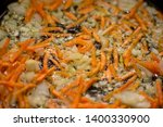 carrots cut into strips with...