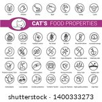 cat's food properties icon set  ... | Shutterstock .eps vector #1400333273