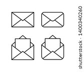 mail linear icons  open and... | Shutterstock .eps vector #1400340260