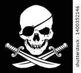 jolly roger  skull with crossed ...   Shutterstock .eps vector #1400352146