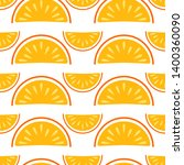 orange fruit vector seamless... | Shutterstock .eps vector #1400360090