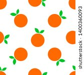 orange fruit vector seamless... | Shutterstock .eps vector #1400360093