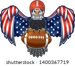american eagle with usa flags...   Shutterstock .eps vector #1400367719