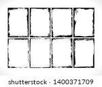 grunge textured frames... | Shutterstock .eps vector #1400371709