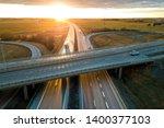 aerial view of modern highway...   Shutterstock . vector #1400377103