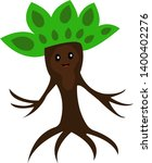 cute tree with black shiny eyes ... | Shutterstock .eps vector #1400402276