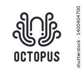 Black Octopus Vector Logo...