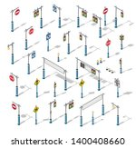 the isometric semaphore... | Shutterstock .eps vector #1400408660