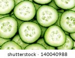 Fresh Cucumber And Slices Whit...