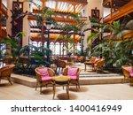 interior reception of a hotel... | Shutterstock . vector #1400416949