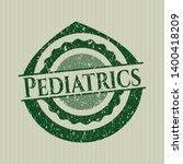 green pediatrics distress... | Shutterstock .eps vector #1400418209