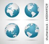 globe icon set   round world... | Shutterstock .eps vector #1400449529