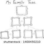my family tree template. vector ... | Shutterstock .eps vector #1400450210
