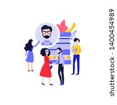 flat hr managers looking for... | Shutterstock . vector #1400454989