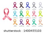 set of realistic 3d icons with... | Shutterstock .eps vector #1400455103