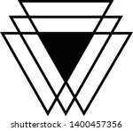 linked triangles. abstract... | Shutterstock .eps vector #1400457356