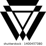 linked triangles. abstract... | Shutterstock .eps vector #1400457380