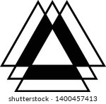 linked triangles. abstract... | Shutterstock .eps vector #1400457413