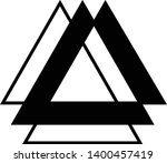 linked triangles. abstract... | Shutterstock .eps vector #1400457419
