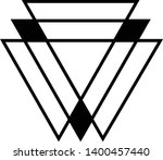 linked triangles. abstract... | Shutterstock .eps vector #1400457440
