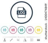 log file format flat color...