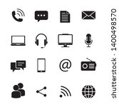 communication icon vector... | Shutterstock .eps vector #1400498570