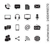 communication icon vector... | Shutterstock .eps vector #1400498570