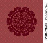 orange icon inside red emblem.... | Shutterstock .eps vector #1400500763