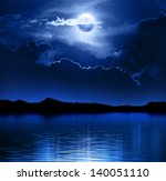fantasy moon and clouds over... | Shutterstock . vector #140051110
