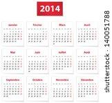 calendar for 2014 year in... | Shutterstock .eps vector #140051788